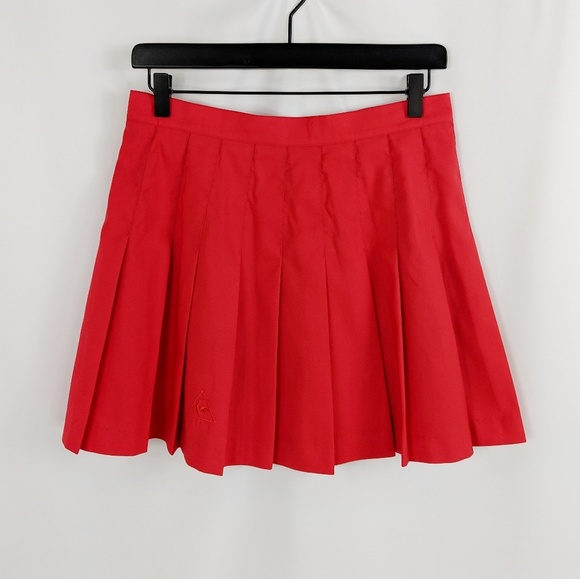 262a0829a1a Le Coq Sportif Skirts | Let Coq Sportif Red Pleated Tennis Skirt ...